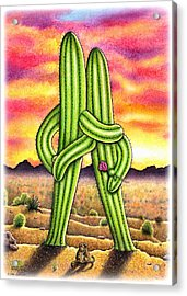 Sunset Sweethearts Acrylic Print