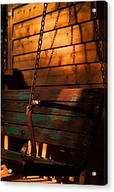 Acrylic Print featuring the photograph Sunset Swing by Haren Images- Kriss Haren