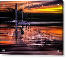 Acrylic Print featuring the photograph Sunset Swirl by Glenn Feron