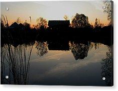 Sunset Talmenka Acrylic Print by Alexei Biryukoff