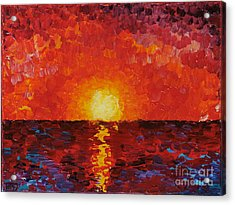 Sunset Acrylic Print by Teresa Wegrzyn