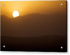 Sunset The Ruby Mountains Wells Nevada Acrylic Print by Michael Rogers