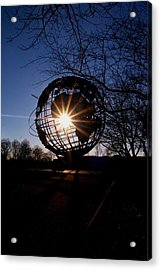 Sunset Through The Unisphere Acrylic Print