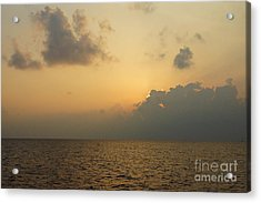 sunset time Oahu Acrylic Print by Nur Roy