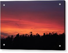 Sunset Tones Acrylic Print by Tom Culver