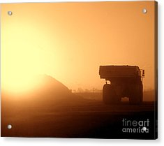 Sunset Truck Acrylic Print by Olivier Le Queinec
