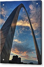Sunset Under The Gateway Arch 001 Acrylic Print