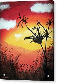 Sunset Valley Acrylic Print