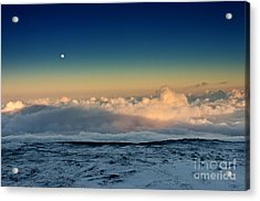 Sunset Very High Acrylic Print by Karl Voss