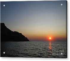 Acrylic Print featuring the photograph Sunset by Vicki Spindler