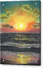 Sunset Acrylic Print by Victor Berelovich