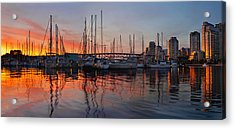Acrylic Print featuring the photograph Sunset View From Charleson Park In Vancouver Bc by JPLDesigns