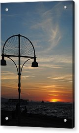 Sunset View From Kordon - Izmir Acrylic Print by Jacqueline M Lewis