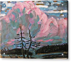 Acrylic Print featuring the painting Sunset by Vikram Singh