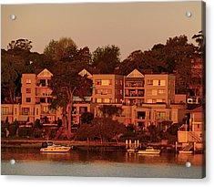 Sunset Villa House Yacht Acrylic Print