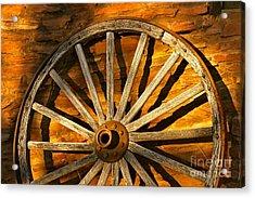 Sunset Wagon Wheel Acrylic Print
