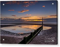 Sunset Wales Acrylic Print by Adrian Evans