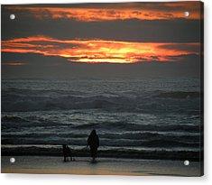 Sunset Walk Acrylic Print by David Quist