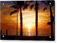 Sunset Walk Acrylic Print by Kirt Tisdale