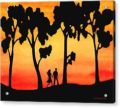 Sunset Walk Acrylic Print by Sophia Schmierer