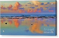 Sunset Water Color Acrylic Print by Michele Penner