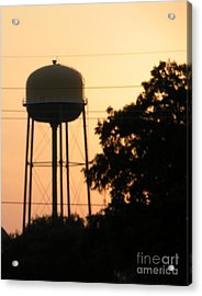 Sunset Water Tower Acrylic Print