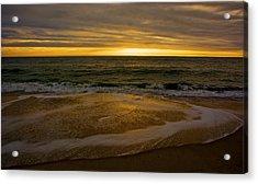 Sunset Waves Acrylic Print by Kathi Isserman