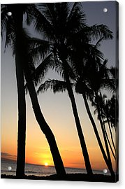 Sunset West Coast Of Maui Acrylic Print