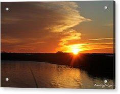 Sunset Wetlands Acrylic Print by Robert Banach