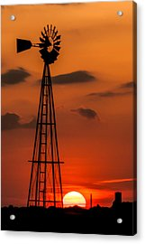 Sunset Windmill Acrylic Print