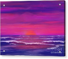 Sunset Winds Acrylic Print by Roxy Riou