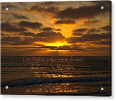 Sunset With Prayer Acrylic Print by Sharon Soberon