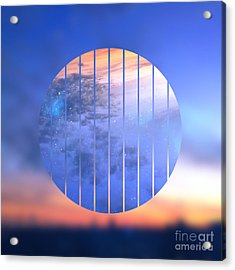 Sunset With Starry Starry Night Sky Acrylic Print by Beverly Claire Kaiya