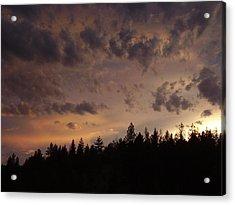 Sunset Acrylic Print by Yvette Pichette