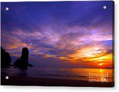 Sunsets And Beaches Acrylic Print by Kaleidoscopik Photography