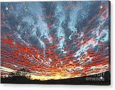 Sunset Colorado Country Style Acrylic Print