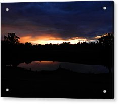 Sunsets Reflection Acrylic Print by Linda Brown