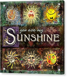 Sunshine Acrylic Print by Evie Cook