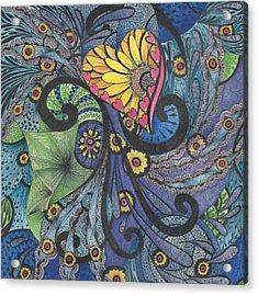 Sunshine In My Heart Tangle Acrylic Print