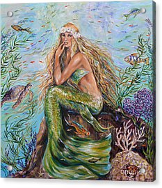 Sunshine Mermaid Square Acrylic Print