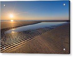 Sunshine On The Beach Acrylic Print by Debra and Dave Vanderlaan