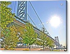 Sunshine Over Ben Franklin Acrylic Print