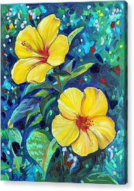 Sunshine Sisters Acrylic Print by Eve  Wheeler