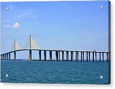 Sunshine Skyway Bridge II Tampa Bay Florida Usa Acrylic Print by Sally Rockefeller