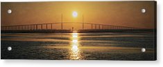Acrylic Print featuring the photograph Sunshine Skyway Bridge Sunrise by Steven Sparks