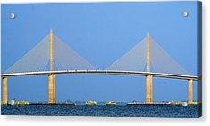 Sunshine Skyway Panorama Acrylic Print