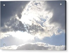 Acrylic Print featuring the photograph Sunshine Through The Clouds by Tara Potts