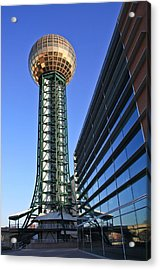Sunsphere And Conference Center Acrylic Print by Melinda Fawver