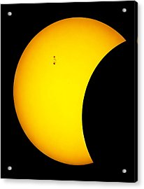 Sunspots During Partial Eclipse.    Acrylic Print