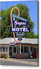 Supai Motel - Seligman Acrylic Print by Mike McGlothlen